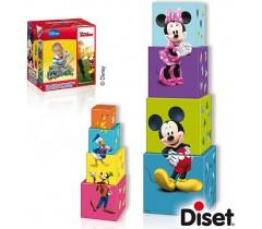 Diset - Cubos empilháveis Mickey