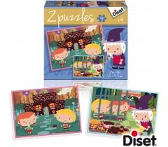 Diset - Puzzle Conto A Casita de Chocolate 2 x 48
