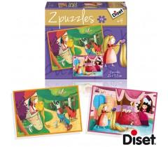 Diset - Puzzle conto Rapunzel 2 x 48