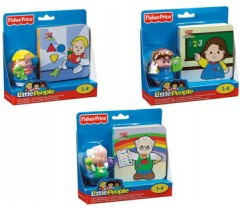 Fisher Price - Sortido de livros de aprendizagem com figuras little people