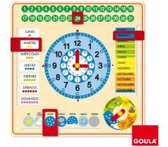 Goula - Relógio escolar em Castelhano