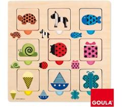 Goula - Puzzle transparências textura e cor