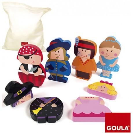Goula - Puzzle personagens magnético