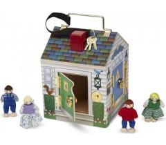 Melissa & Doug - Casa campainhas de madeira