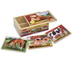 Melissa & Doug - 4 Puzzles de madeira
