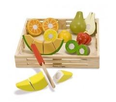 Melissa & Doug - Fruta de madeira para cortar