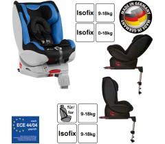 Hauck - Cadeira auto Varioguard (Gr. 0/1) incl. base isofix Black/Blue