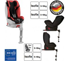 Hauck - Cadeira auto Varioguard (Gr. 0/1) incl. base isofix Black/Red