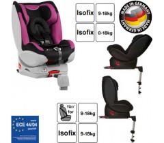 Hauck - Cadeira auto Varioguard (Gr. 0/1) incl. base isofix Black/Pink