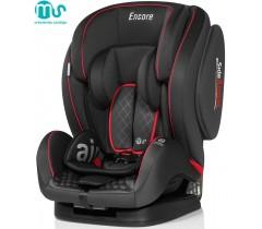 MS - Cadeira auto Encore Negra -Ribete Rojo
