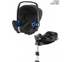 Britax Baby Safe I-Size BUNDLE + Base FLEX Cosmos Black