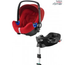 Britax Baby Safe I-Size BUNDLE + Base FLEX Flame Red