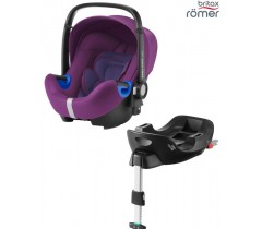 Britax Baby Safe I-Size BUNDLE + Base FLEX Mineral Purple