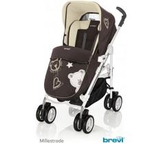 Brevi - Trio, carrinho, alcofa e cadeira grupo 0, Millestrade