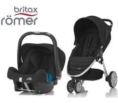 Duo Britax B-Agile 3 + Römer Baby Safe SHR II Cosmos Black