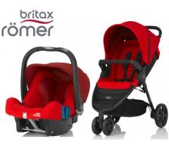 Duo Britax B-Agile 3 + Römer Baby Safe SHR II Flame Red