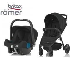 Duo Britax B-Agile 4 + Römer Baby Safe SHR II Cosmos Black