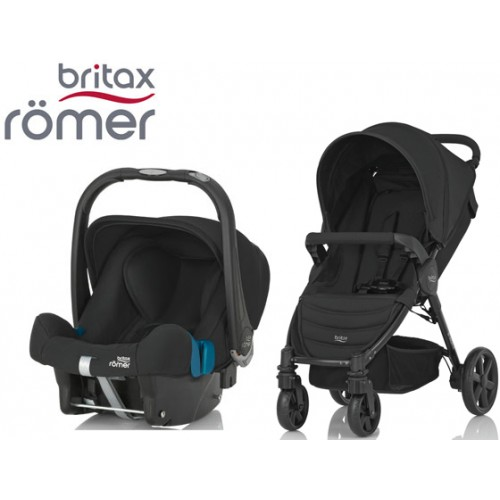 Duo Britax B-Agile 4 + Römer Baby Safe SHR II Cosmos Black 3a4e57b880