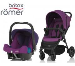 Duo Britax B-Agile 4 + Römer Baby Safe SHR II Mineral Lilac