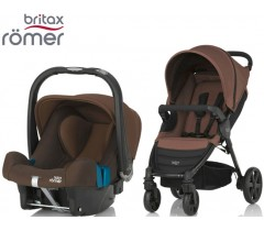 Duo Britax B-Agile 4 + Römer Baby Safe SHR II Wood Brown