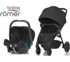 Duo Britax B-Agile 4 Plus + Römer Baby Safe SHR II Cosmos Black