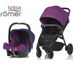 Duo Britax B-Agile 4 Plus + Römer Baby Safe SHR II Mineral Lilac