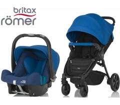 Duo Britax B-Agile 4 Plus + Römer Baby Safe SHR II Ocean Blue