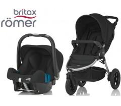 Duo Britax B-Motion 3 + Römer Baby Safe SHR II Cosmos Black