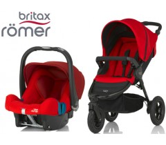 Duo Britax B-Motion 3 + Römer Baby Safe SHR II Flame Red