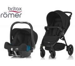 Duo Britax B-Motion 4 + Römer Baby Safe SHR II Cosmos Black