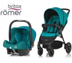 Duo Britax B-Motion 4 + Römer Baby Safe SHR II Lagoon Green