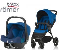 Duo Britax B-Motion 4 + Römer Baby Safe SHR II Ocean Blue