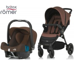 Duo Britax B-Motion 4 + Römer Baby Safe SHR II Wood Brown