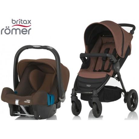 Duo Britax B-Motion 4 + Römer Baby Safe SHR II Wood Brown