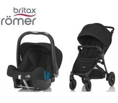 Duo Britax B-Motion 4 Plus + Römer Baby Safe SHR II Cosmos Black