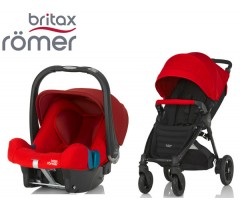 Duo Britax B-Motion 4 Plus + Römer Baby Safe SHR II Flame Red