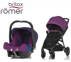 Duo Britax B-Motion 4 Plus + Römer Baby Safe SHR II Mineral Lilac