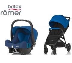 Duo Britax B-Motion 4 Plus + Römer Baby Safe SHR II Ocean Blue
