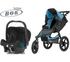 Duo Bob Revolution Pro + Römer Baby Safe SHR II Lagoon