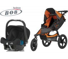 Duo Bob Revolution Pro + Römer Baby Safe SHR II Orange