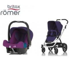 Duo Britax GO + Römer Baby Safe SHR II Mineral Purple