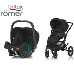 Duo Britax Affinity 2 + Römer Baby Safe SHR II Cosmos Black