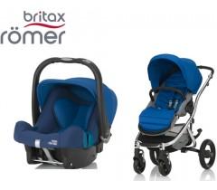 Duo Britax Affinity 2 + Römer Baby Safe SHR II Ocean Blue