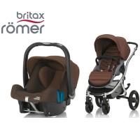 Duo Britax Affinity 2 + Römer Baby Safe SHR II Wood Brown