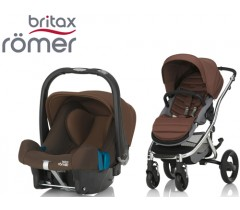 Duo Britax Affinity 2 + Römer Baby Safe SHR II Wood Brown