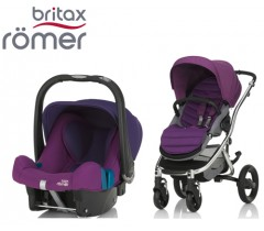 Duo Britax Affinity 2 + Römer Baby Safe SHR II Mineral Lilac
