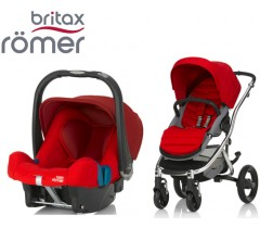 Duo Britax Affinity 2 + Römer Baby Safe SHR II Flame Red