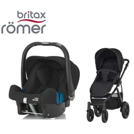 Duo Britax Smile 2 + Römer Baby Safe SHR II Cosmos Black