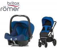 Duo Britax Smile 2 + Römer Baby Safe SHR II Ocean Blue