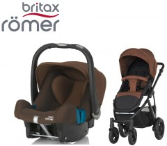 Duo Britax Smile 2 + Römer Baby Safe SHR II Wood Brown